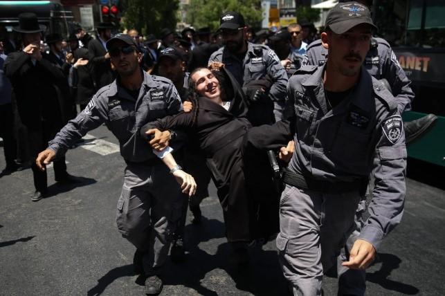 Manifestación contra la profanación de Shabat: Cinco detenidos