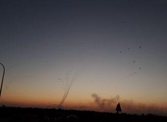 Cohete disparado desde la Franja de Gaza hacia el sur de Israel