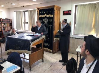 El presidente de la OSM en la Ieshivá de Jabad Lubavitch