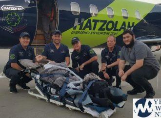Rabino Yitzi Hurwitz volando a Nueva York por Hatzolah Air