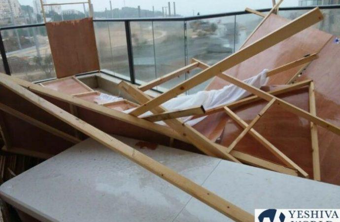 Cientos de Sucot destruidas por una terrible tormenta