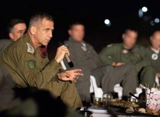 """<strong>Tte. Gral. Aviv Kochavi, jefe de las FDI.</strong> """"Todos los frentes 'frágiles' podrían deteriorarse en una guerra"""""""