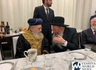 <strong>Reunión histórica.</strong> Se encuentran el rabino jefe sefardí y el Rosh Yeshivá de Lakewood