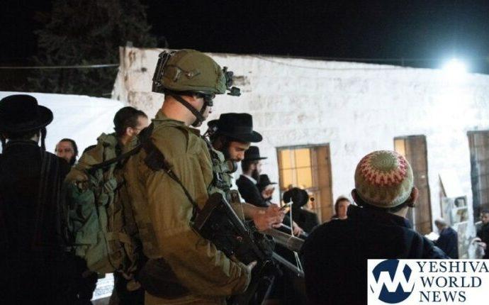 1,400 mitpalelim visitaron la tumba de Yosef