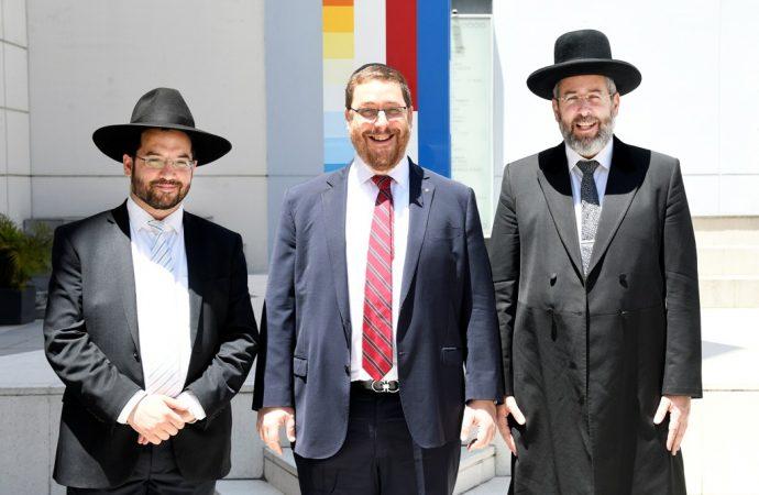 El Gran Rabino Asquenazí de Israel visitó la sede de la AMIA