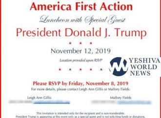 <strong>El 12 de noviembre.</strong> El presidente Trump almorzará con 100 judíos ortodoxos en Nueva York
