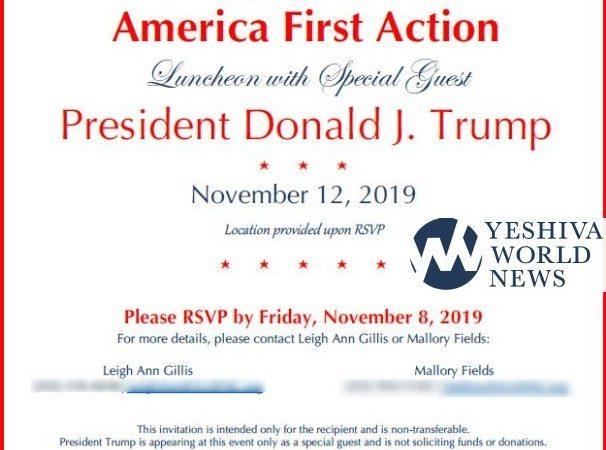 El presidente Trump almorzará con 100 judíos ortodoxos en Nueva York