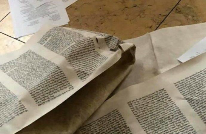 Sifrei Torah y Shul persa profanados