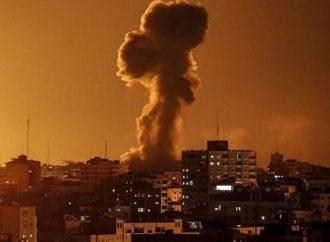 <strong>Madrugada del domingo.</strong> Cazas de Israel responden a ataques con cohetes desde Gaza