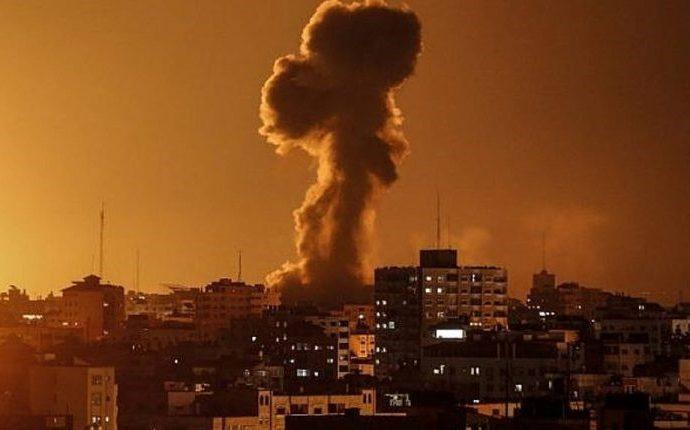 Cazas de Israel responden a ataques con cohetes desde Gaza
