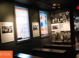 Graffiti racista encontrado en un museo del Holocausto de Nueva York