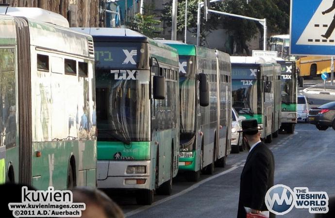 Fueron eliminados servicios de autobuses en Shabat