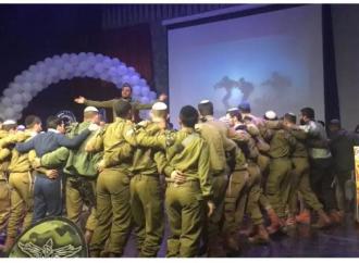 Los soldados haredim celebraron el Siyum HaShas