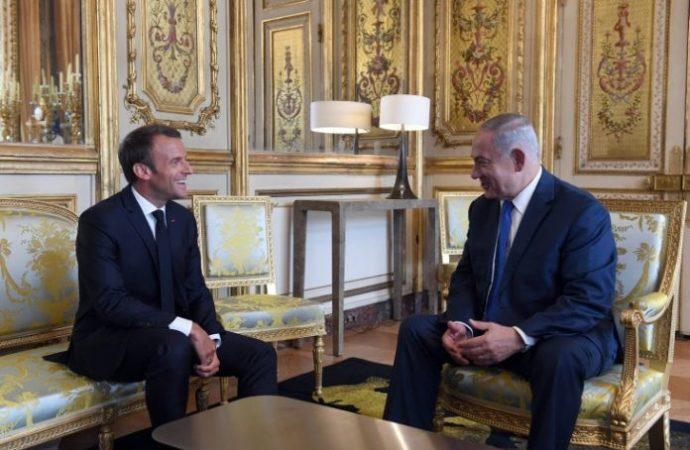 Israel irritado por la reunión de Macron-Abbas antes del foro del Holocausto