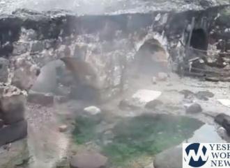 Después de 10 años, el manantial de agua caliente en Tiberia está fluyendo nuevamente a 140 ° F