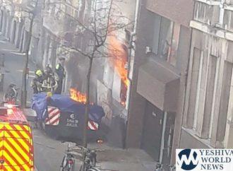 <strong>No hay víctimas fatales.</strong> Incendio en el edificio de la Kehilá Majzikei Hadat en Amberes