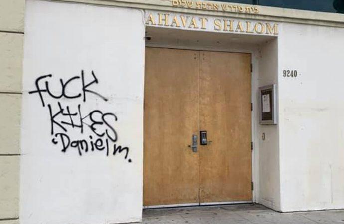 Pintadas antisemitas con espray en la sinagoga de Los Angeles