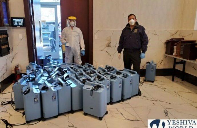Flatbush Shomrim responde a COVID-19 previniendo cientos de hospitalizaciones con concentradores de oxígeno prestados