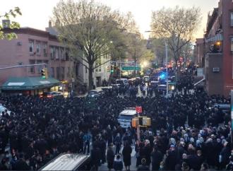 La policía de Nueva York sabía que estaba ocurriendo el funeral de un rabino ortodoxo en Brooklyn