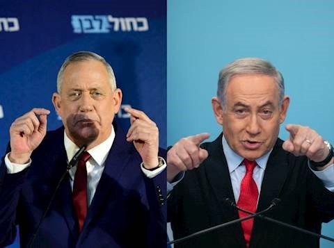 """Netanyahu y Gantz llevan a cabo negociaciones de """"aislamiento"""" pero la unidad no es probable antes de Pésaj"""