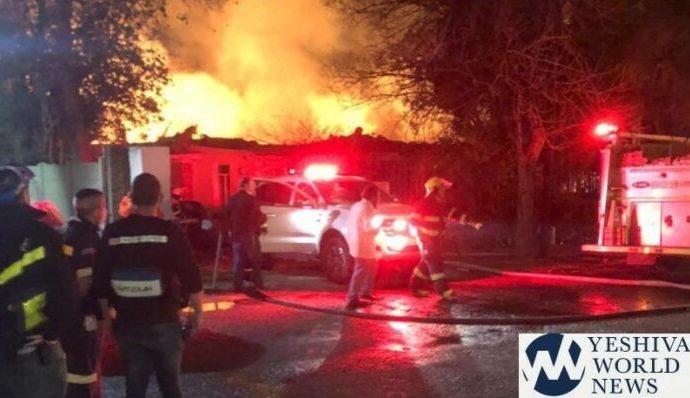 Incendio masivo destruye el hogar del Rav de Ohr Saméaj en Johannesburgo
