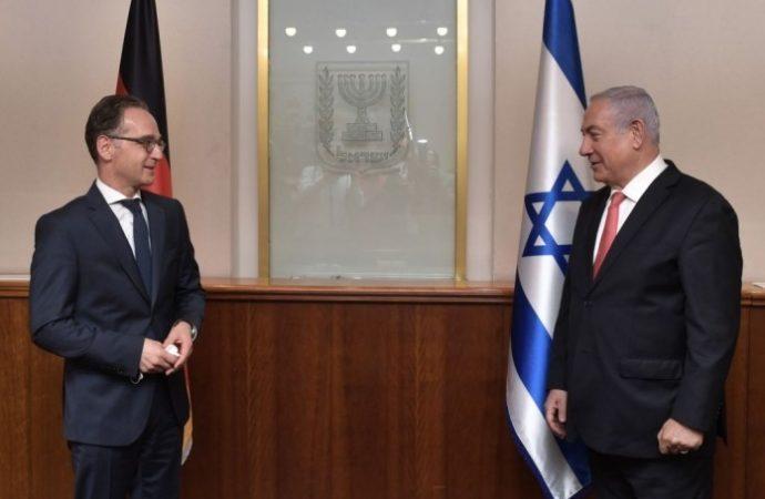 El Ministro de Relaciones Exteriores de Alemania dice que la anexión es ilegal pero no amenaza a Israel con sanciones