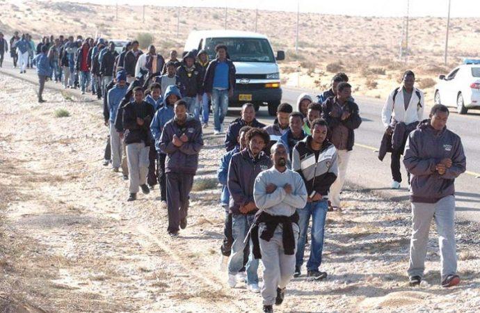 Infiltrado africano cruzó a Israel desde El Líbano
