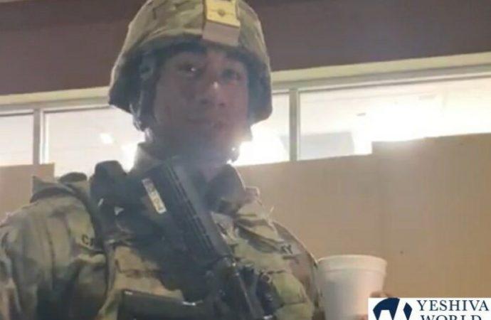 Guardia de la nación en Los Angeles elogia a los judíos ortodoxos