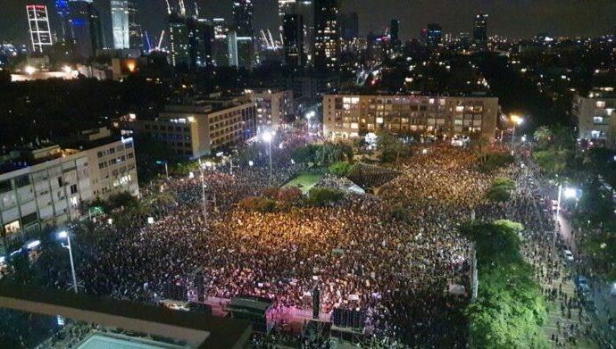 10,000 israelíes protestan la respuesta económica del gobierno a la pandemia