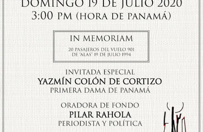 """Cómo ver hoy el acto del 26 Aniversario del atentado al vuelo 901 de """"Alas"""" en Panamá"""