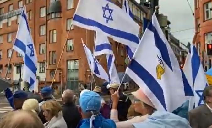 Finlandia: la manifestación a favor de Israel duplicó a quienes lo hacían en contra