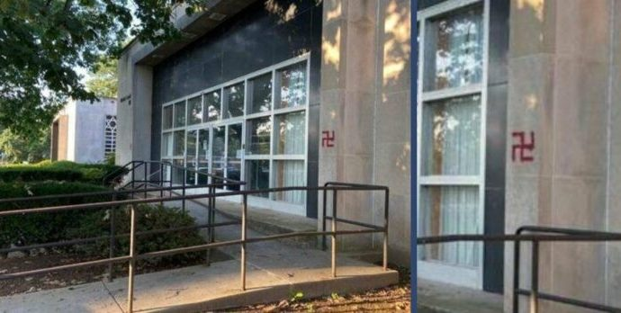 Sinagoga Kesher Israel en Harrisburg desfigurada por esvásticas