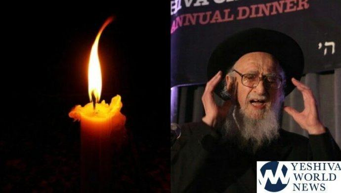 Fallecimiento de Hagaón HaRav Jaim Dov Keller ZT'L