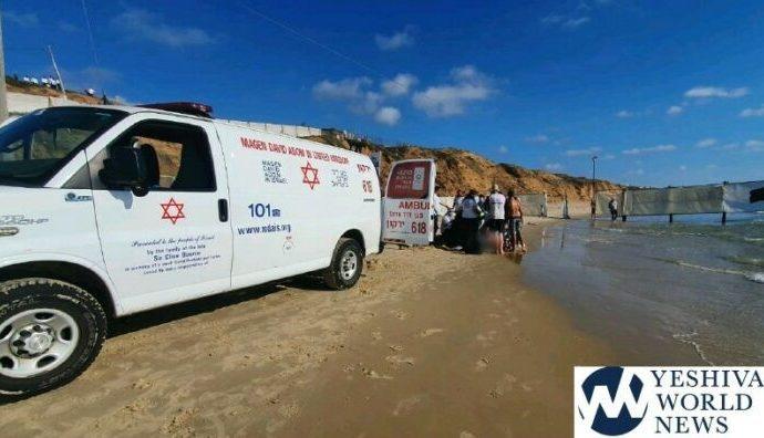 Hombre hareidi en estado crítico después de ahogarse en la playa de Herzliya