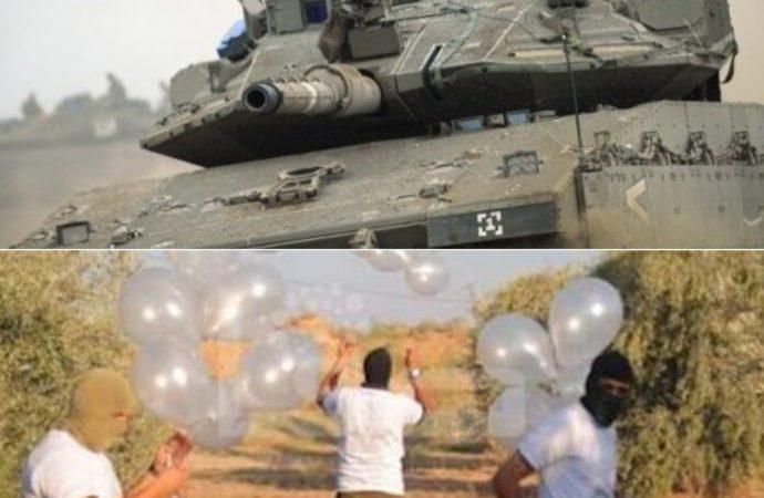 Globos incendiarios aterrizan en la base de las FDI
