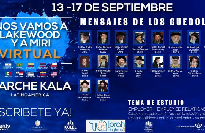 Gran programa de Torá en español, inglés y hebreo