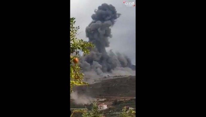 Se desconoce la causa de la gran explosión en el depósito de armas de Hezbolá