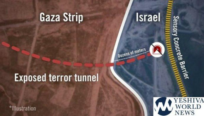 Las FDI descubren un nuevo túnel que se está cavando desde Gaza hacia Israel