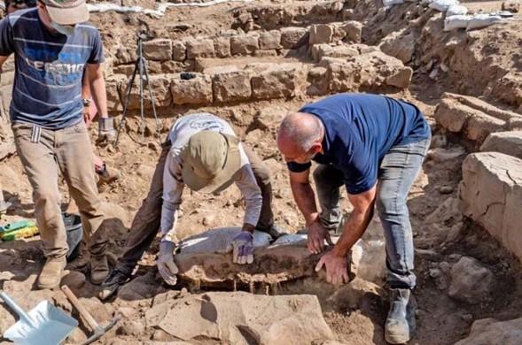 Se descubre la antigua piedra fronteriza 'Kfar Nafah' en el Golán