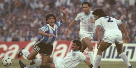 Maradona con Rabin