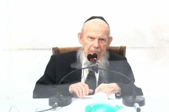 """HaGaón HaRav Edelstein: """"Celebre Simjat Torá de una manera que no dañe la salud pública"""""""
