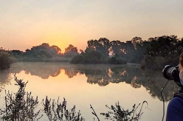 Reserva Natural En Afek en una perfecta mañana de noviembre