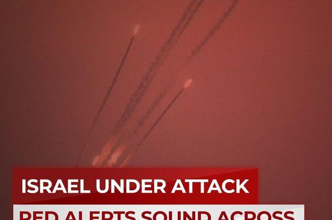 Lanzamiento de cohetes desde Gaza hacia el centro y sur de Israel