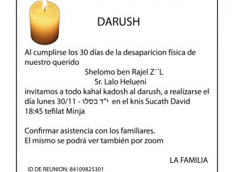 <strong>Hoy.</strong> Darush Lalo Helueni z'l