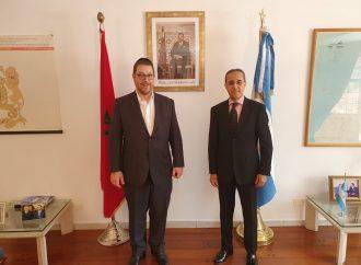 <strong>Acuerdos de paz.</strong> Encuentro del presidente de AMIA con el embajador del Reino de Marruecos