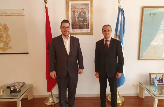 Encuentro del presidente de AMIA con el embajador del Reino de Marruecos