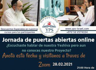 YPS: Estudie on line en una Ieshivá en Israel. Participe hoy en una reunión con el Rosh Yeshivá