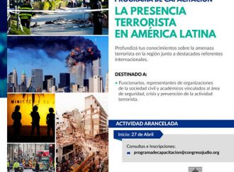 <strong>Inicio 27 de abril.</strong> Capacitación CJL – Universidad de Lomas de Zamora: La presencia terrorista en la región
