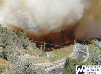 10 dotaciones y 6 aviones combaten incendios cerca de Jerusalem