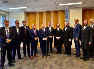 Líderes judíos en Nueva York discuten el aumento de los delitos de odio en la sede del FBI